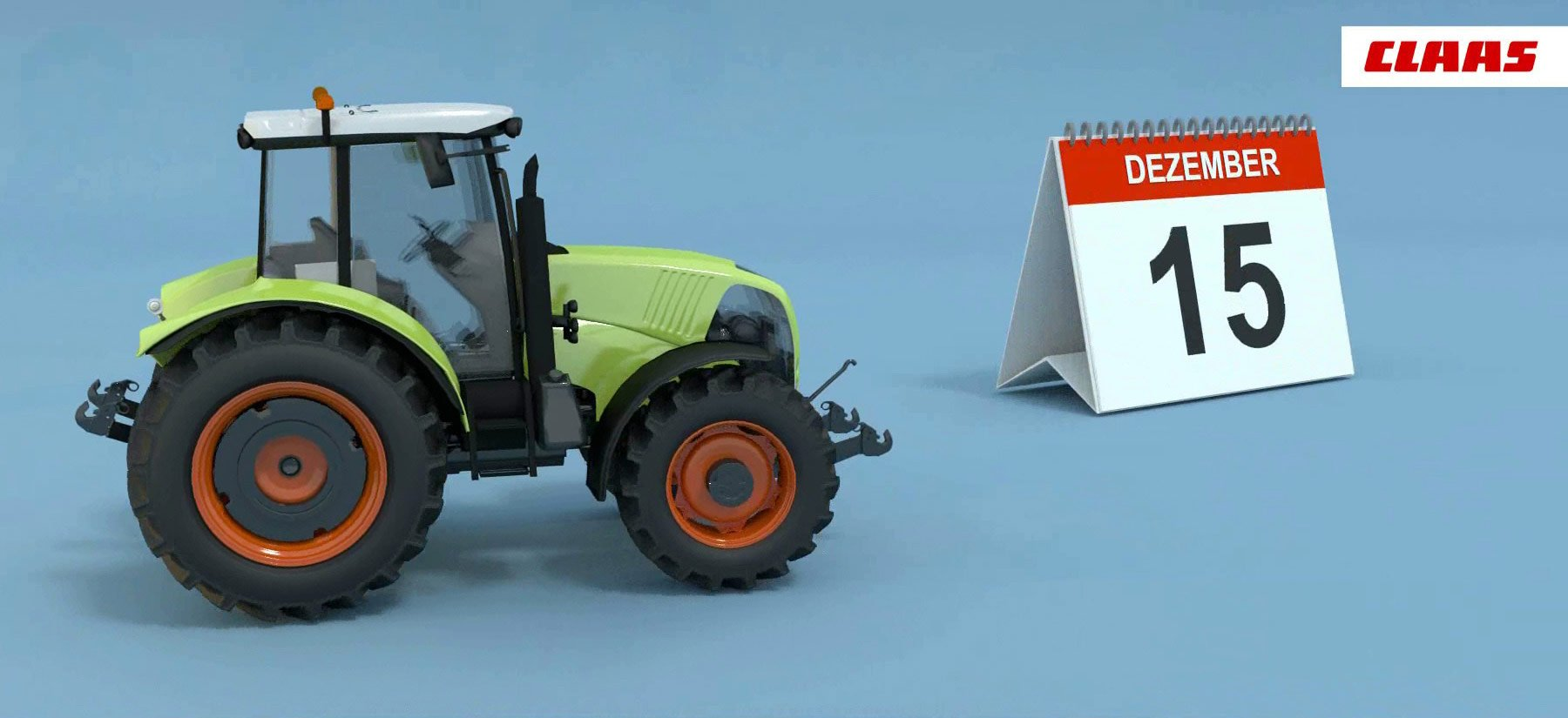 Traktor von Claas für einen internen Präsentationsclip animiert von LUDEWIGSKONZEPT