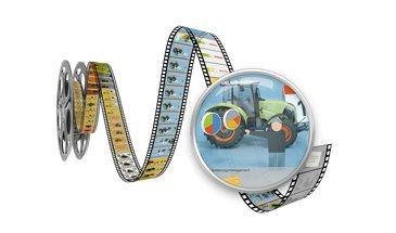 Filmrolle mit Bildern aus dem Claas internen Clip