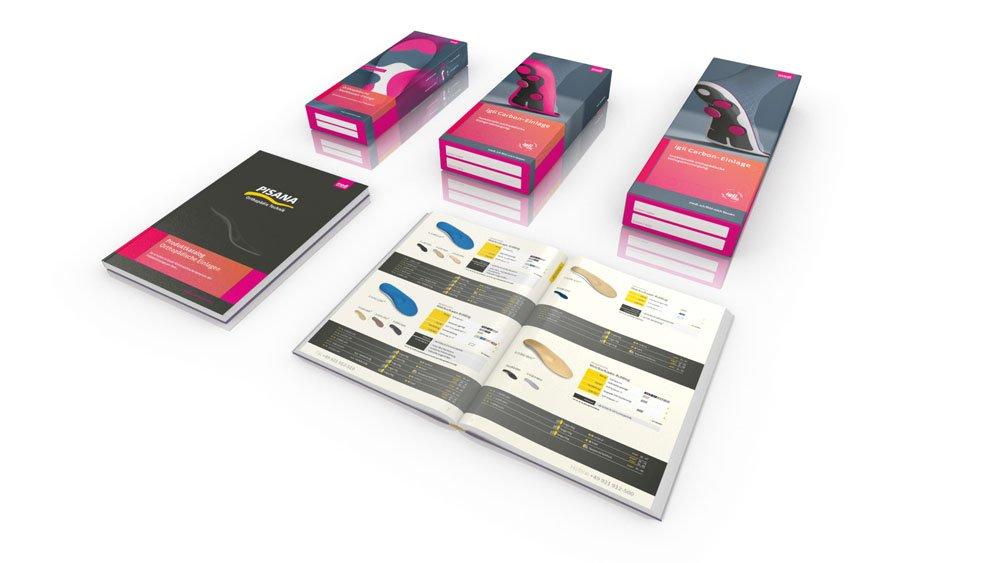 LUDEWIGSKONZEPT erstellte Verpackungsdesign und Katalog für die Firma medi