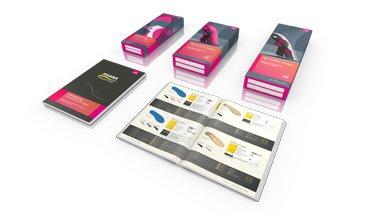 3D-Visualisierung von Katalog und Verpackungen der Firma medi