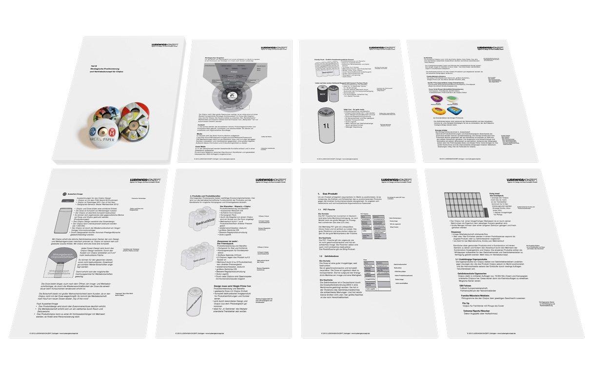 Das Bild zeigt das Cliqcloq-Konzept in gedruckter Form