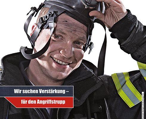 Werbekampagne der Feuerwehr Plakat von LUDEWIGSKONZEPT
