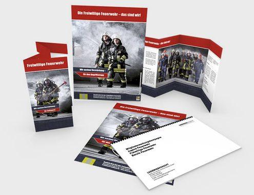 Feuerwehr Solingen auf Flyern, Plakaten und dem Konzept der Kampagne