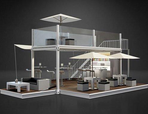 Lounge Container von CONTAIN:U 3D Rendering Produktvisualisierung im Rahmen einer Gestaltung für die Produkteinführung